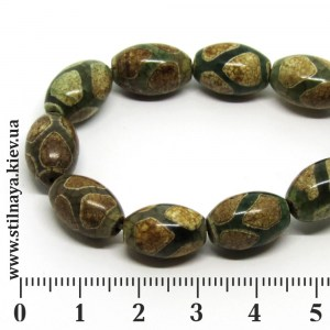 DZI027-beads-14x10mm-turtle