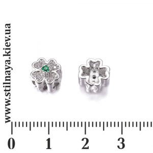 Milano-bead-clover-rhodium-8mm