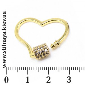 Milano-oval-clasp-heart-gold
